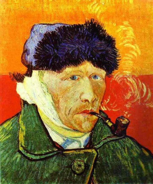Vincent Van Gogh self portrait with no ear