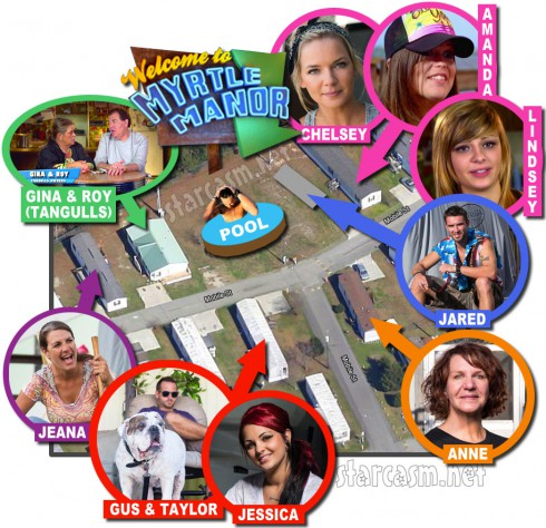 Myrtle Manor trailer park map