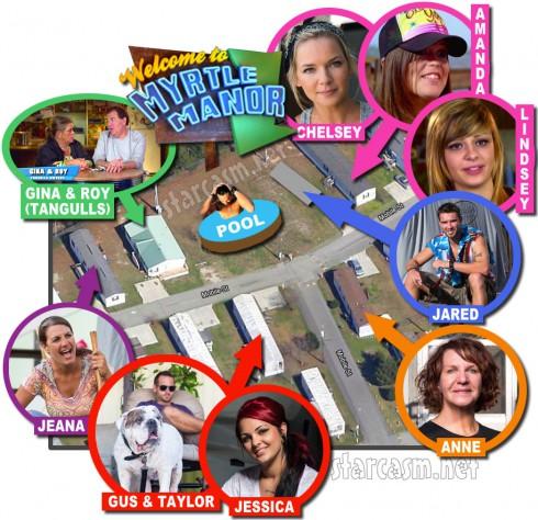 Myrtle Manor trailer park map