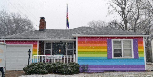 Rainbow House across the street from Westboro Baptist Church