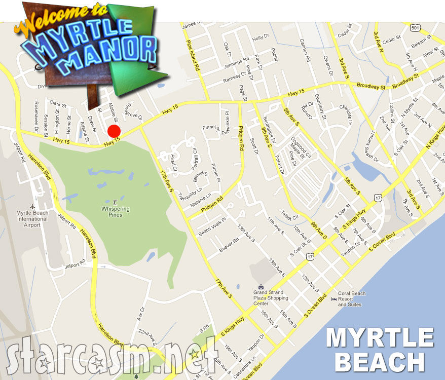 Where Is Myrtle Manor In Beach Map