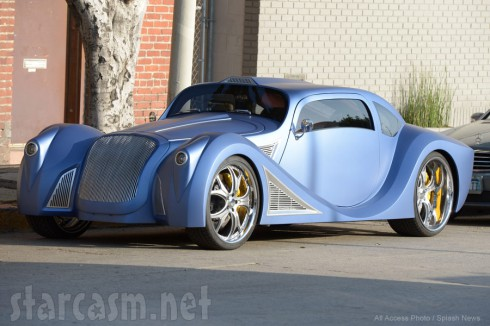 Black Eyed Peas singer Will.I.Am's custom blue car is a 1958 VW Beetle