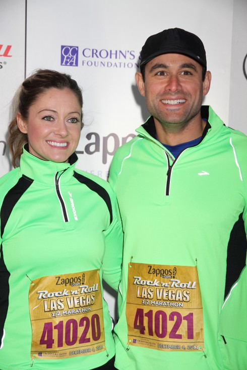Molly Malaney and husband Jason Mesnick attend Zappos.com Rock N Roll Las Vegas Marathon at Mandalay Bay Hotel and Casino in Las Vegas, Nevada.
