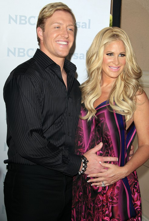 Kim Zolciak, Kroy Bermann attending the NBC Universal Summer Press Day, held at The Langham Huntington Hotel and Spa in Pasadena, California.