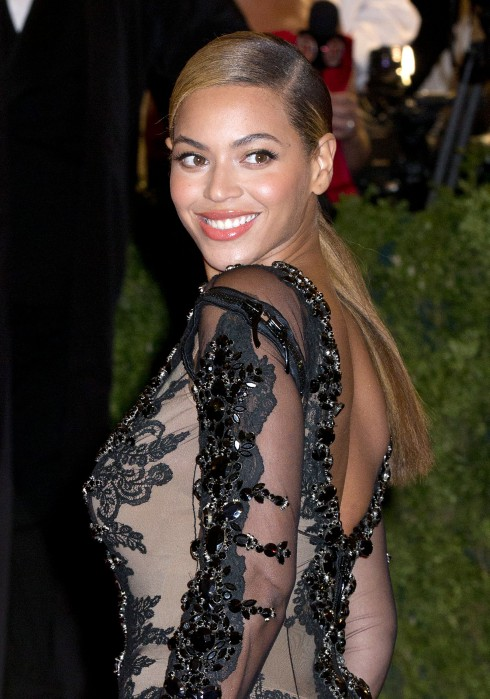 Beyonce Knowles attends the Schiaparelli and Prada 'Impossible Conversations' Costume Institute Gala at The Metropolitan Museum of Art in New York City, USA.