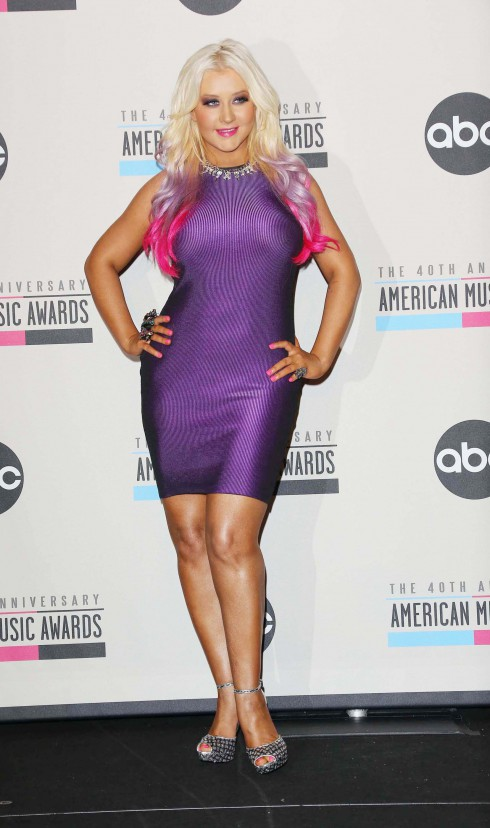 Christina Aguilera attends the 40th Anniversary American Music Awards - Nominations Announcement held at JW Marriott Los Angeles, at L.A. LIVE Los Angeles, California.