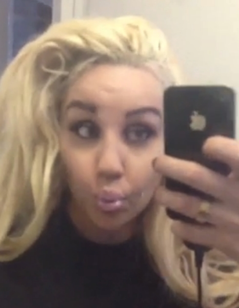 Amanda Bynes gets ready while sucking sour candy