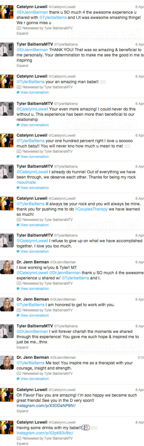 Catelynn Lowell and Tyler Baltierra tweet while on Couples Therapy