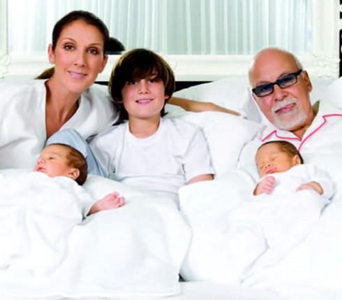 Celine Dion Twins at 42