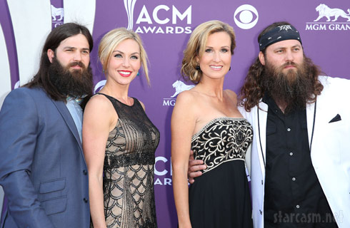 Jep, Jessica, Willie and Korie Robertson 2013 ACM Awards