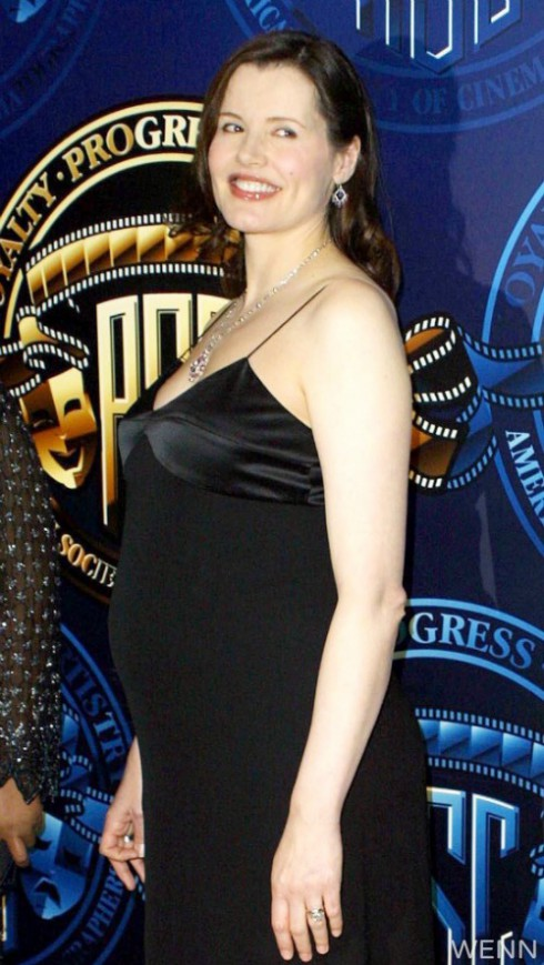 Geena Davis Pregnant