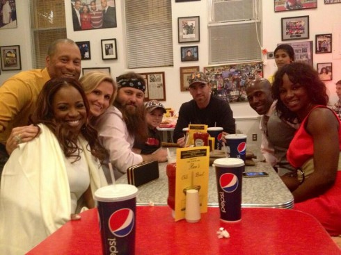 The Neelys Korie Robertson Willie Robertson Adam LaRoche Donald Driver Betina in Washington DC