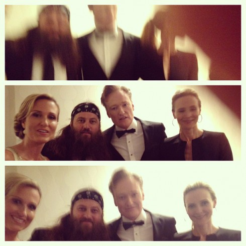 Duck Dynasty's Korie and Willie Robertson Conan O'Brien wife Liza Powel