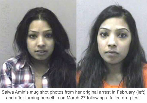 Buckwild's Salwa Amin mugshot photos for drug arrest