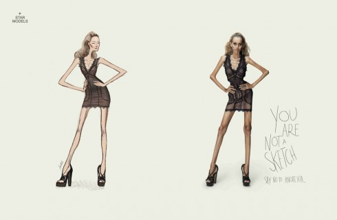 Say No to Anorexia Ad