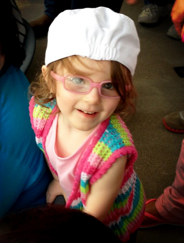 Ali was also fitted for some pink glasses, which she rocks in the most