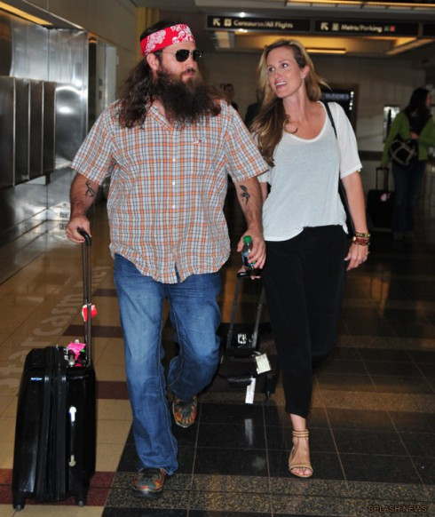 Duck Dynasty's Korie and Willie Robertson arrive in Washington DC for the 2013 White House Correspondents' Dinner