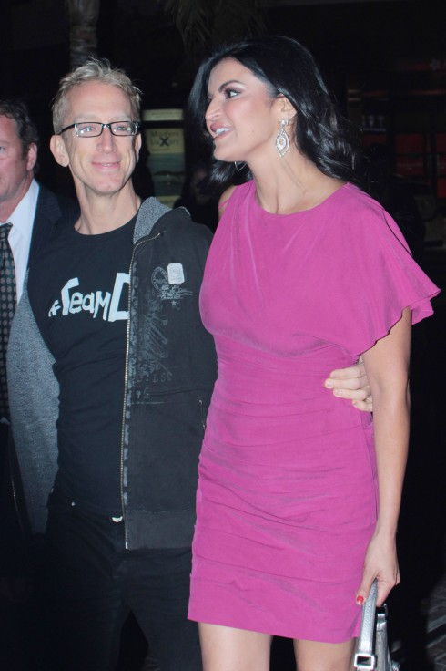 Andy Dick and Jennifer Gimenez attend the Dancing With The Stars afterparty at Mixology at Los Angeles' The Grove.