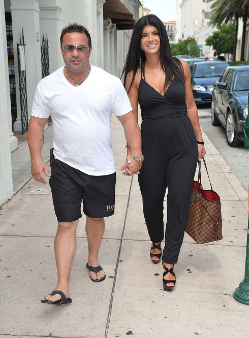 Joe Giudice and Teresa Giudice arrive at Books and Books ahead of Teresa's signing of her new book 'Fabulicious!: Fast & Fit' Coral Gables, Florida.