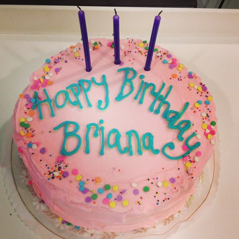 Teen Mom 3 Briana Dejesus 19th birthday cake