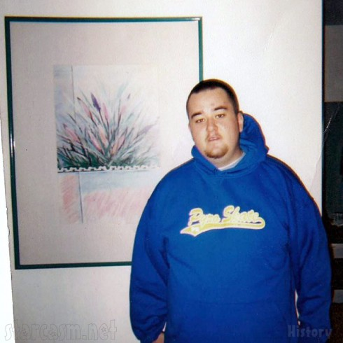 Pawn Stars Chumlee old photo as a young man