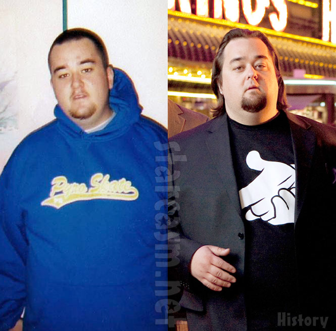 Here are the side-by-side photos of Chumlee then and now: