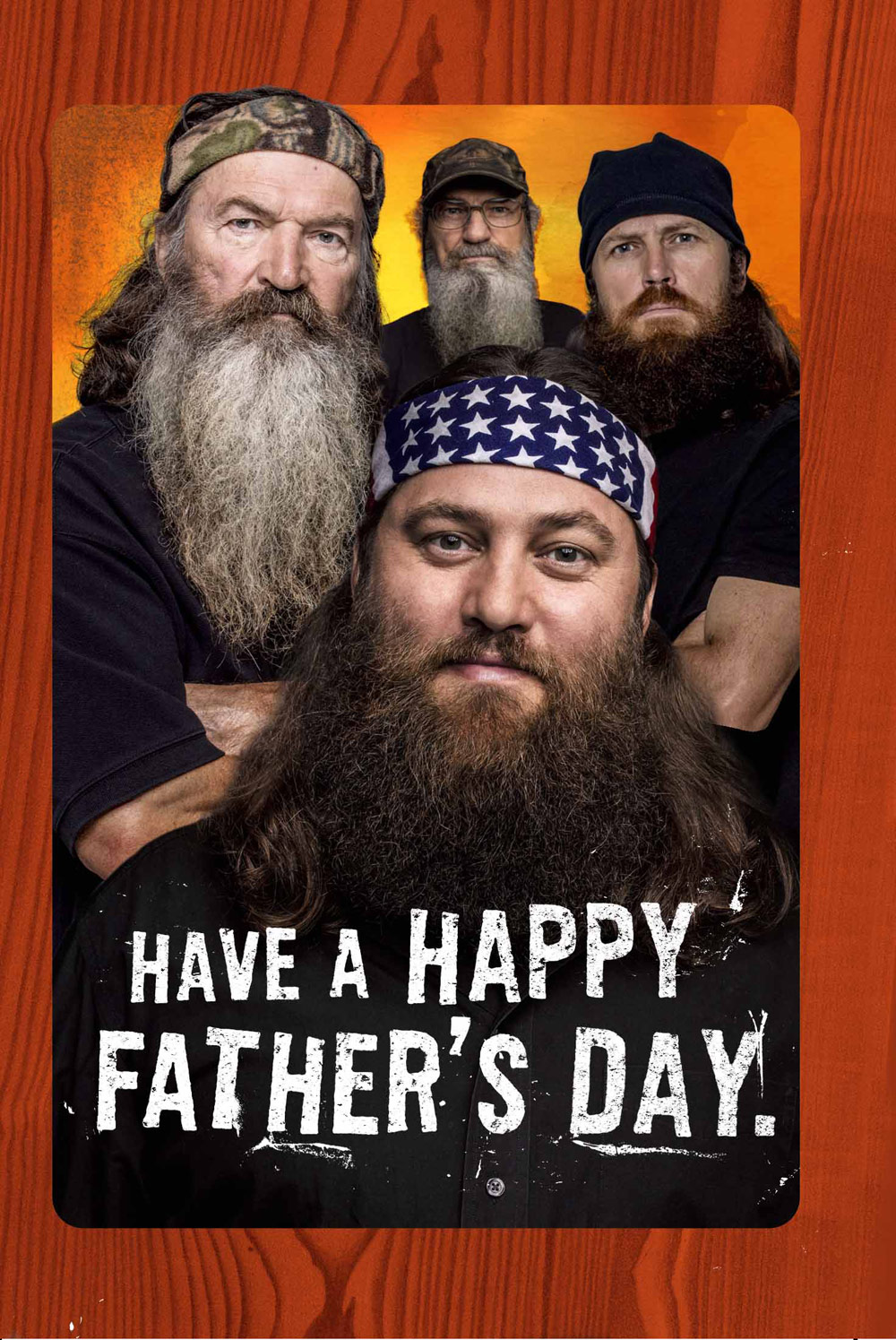 The Duck Dynasty Hallmark Father's Day card