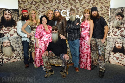 Cast of Duck Dynasty at 2013 A&E Upfront Event