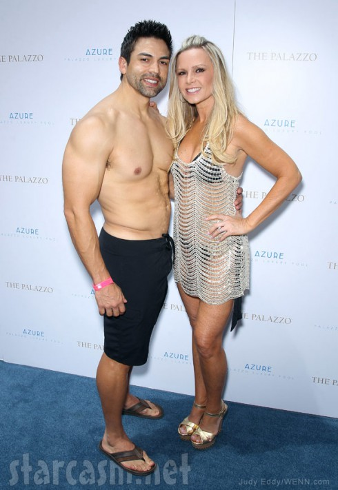 Tamra Barney in a bikini and Eddie Judge without a shirt