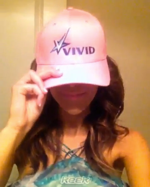 Farrah Abraham wearing her Vivid Entertainment hat
