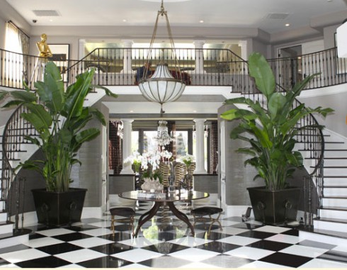 Kris Jenner's foyer in her house entryway
