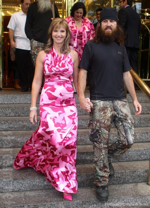 Duck Dynasty's Missy Robertson in a camo dress