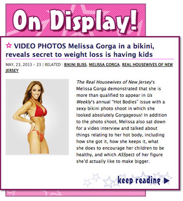 VIDEO PHOTOS Melissa Gorga in a bikini, reveals secret to weight loss is having kids