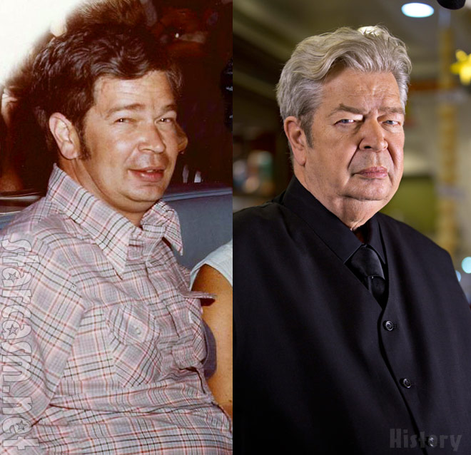 Pawn Stars Old Man Richard Harrison old photo and new photo side by