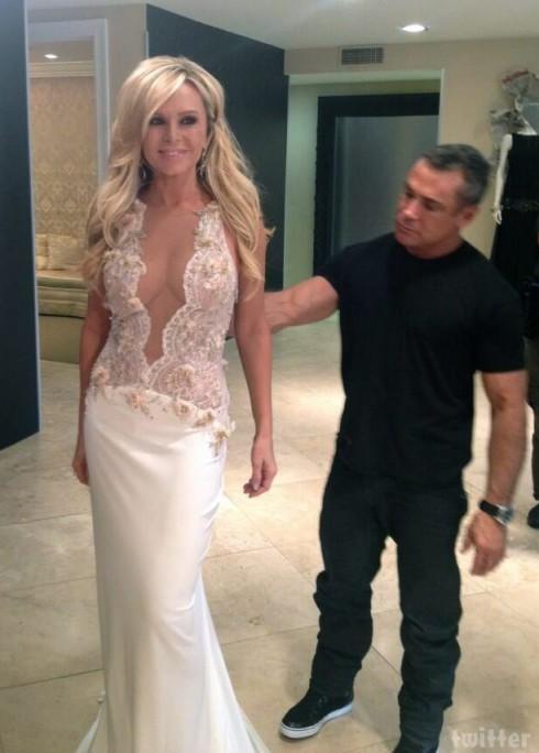PHOTOS Tamra Barney tries on wedding dresses