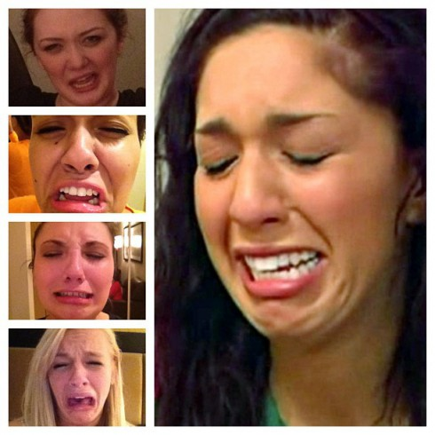 The cast of Teen Mom 3 imitate Farrah Abraham's cry face
