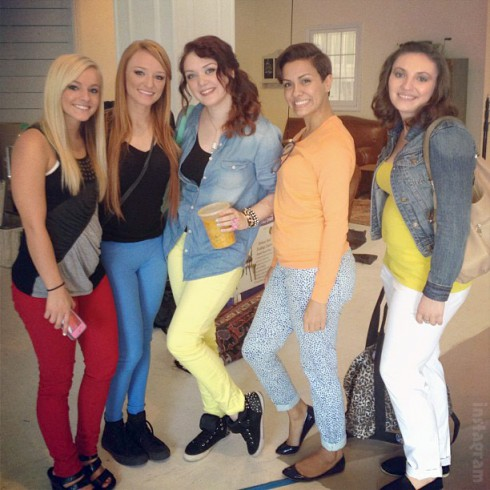 Teen Mom 3 Mackenzie Katie Briana and Alex with Maci Bookout in NYC 2013 for Aftershow interviews