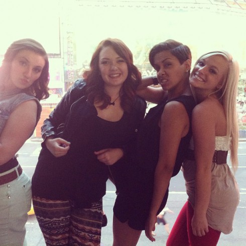 The cast of Teen Mom 3 in New York City for Season 1 aftershow interviews