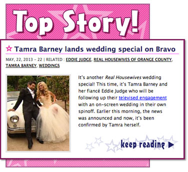 Tamra Barney lands wedding special on Bravo