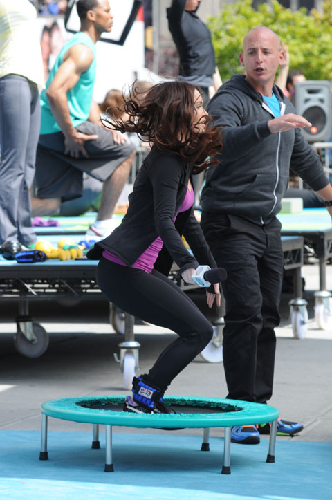 PHOTOS, VIDEO: Megan Fox jumping a trampoline while ...