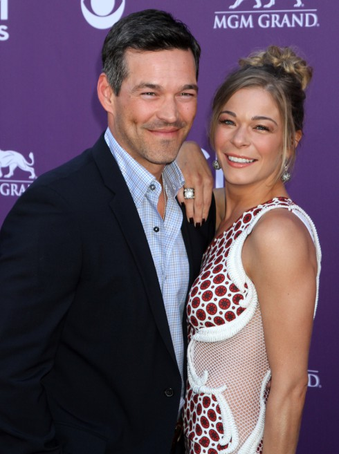 LeAnn Rimes and Eddie Cibrian attend the 2012 ACM Awards (Academy of Country Music Awards) at the MGM Grand in Las Vegas, Nevada.