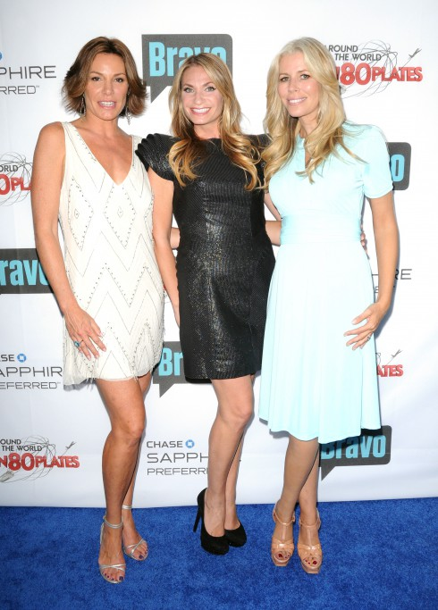 "LuAnn de Lesseps, Heather Thompson and Aviva Drescher at Bravo's ""Around the World in 80 Plates"" finale Party in New York City, United States."