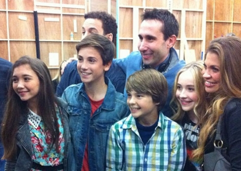 Girl Meets World cast with Ben Savage, Roman Blanchard, Danielle Fishel