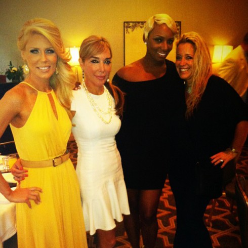 Gretchen, Marysol, NeNe, and a friend at the post-wedding brunch