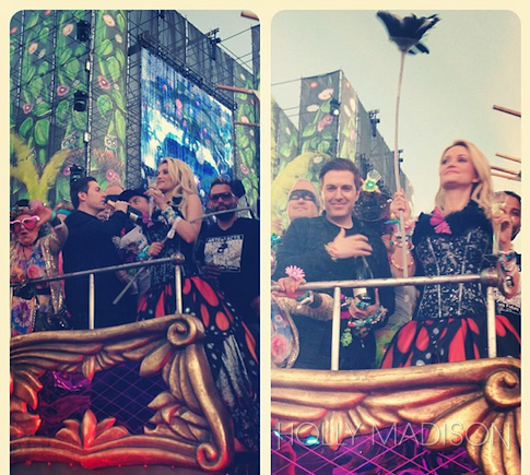 Pasquale Rotella and Holly Madison during EDC music festival proposal