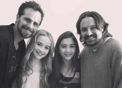 RIder Strong and Will Friedle on the set of 'Girl Meets World'