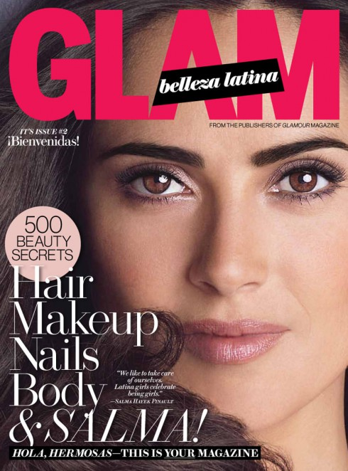 Salma Hayek on Glam Belleza Latina