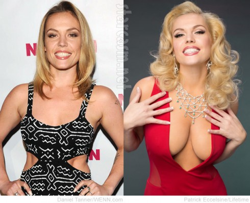 Agnes Bruckner Anna Nicole Smith breasts before and after photos