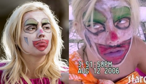 Lifetime actress Agnes Bruckner as Anna Nicole Smith with clownface makeup