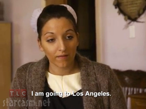 Lizzie from Breaking Amish Season 2 talking about going to Los Anglees